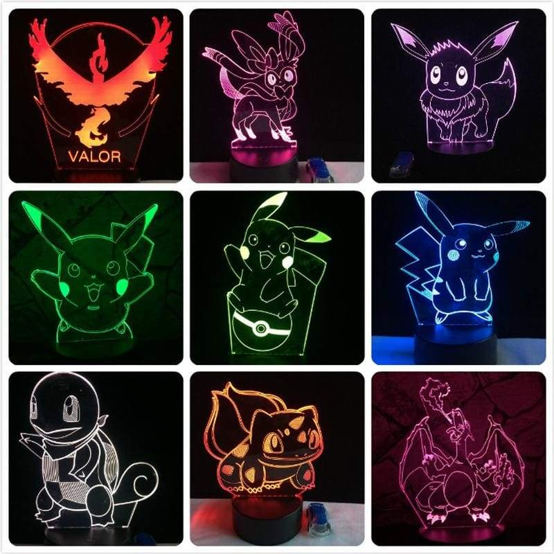Pokemon Go 3D Lamp - Pokemon Merchandise